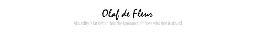Olaf de Fleur - Hausmynd